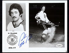Al MacAdam Cleveland Barons Signed 8x10 Team Issued Hockey Photo JSA