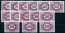 ÖSTERREICH PORTO 1922 118-131 ** POSTFRISCH SATZ 120€(D4990