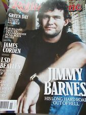 JIMMY BARNES - OZ ROLLING STONE MAGAZINE #780 - 2016 - GREEN DAY - BEATLES