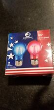 ENERGETIC LED CLEAR GLASS RED AND BLUE  BULBS