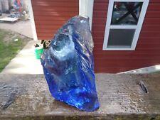 Glass Rock Slag Pretty Clear Sapphire Blue 3.14 lb Rocks X39 Landscaping Aquariu