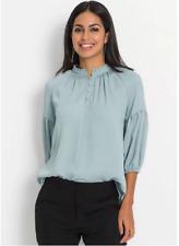 Bodyflirt Puff Sleeve Pale Blue Blouse UK Size 8 NEW