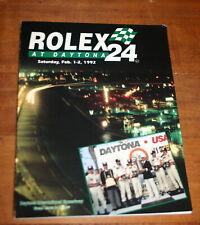 1992 ROLEX 24 HOURS AT DAYTONA OFFICIAL PROGRAM PORSCHE MUSTANG NISSAN TOYOTA