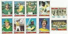 Vintage 1979 tarjetas de béisbol Topps – Oakland Athletics un 's – Mlb