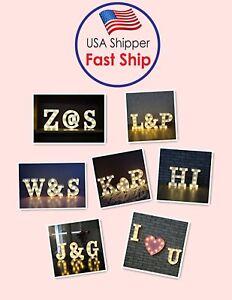 Alphabet LED Letter Lights LED Light Up White Plastic Letters Standing/ Hanging