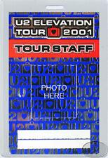 U2 2001 Elevation Laminated Backstage Pass Staff blue