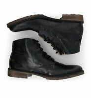 Bed Stu Men's Hoover II Lace Up Short Leather Boots - Black Size 8-13 NIB