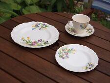 J&G Meakin British Classic Pretty Crocus Design Cup, Saucer,  tea & side plate