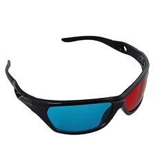 1 Pair Marco Rojo Azul 3D Gafas Para Dimensional Anaglifo Pelicula Juegos DVD