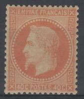 "FRANCE YVERT 31 SCOTT 35 "" NAPOLEON III 40c ORANGE 1868 "" MNH VVF SIGNED  M087"