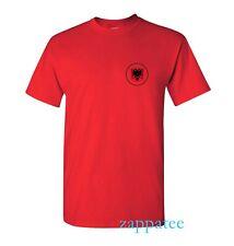 Albania T Shirt - Red Albanian flag tee