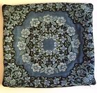 """Pillow Cover Blue Floral Tapestry Circle Best of Flanders 16"""" x 17.75"""" Cotton"""