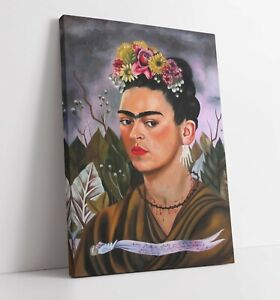 FRIDA KAHLO LARGE CANVAS WALL ART FLOAT EFFECT/FRAME/PICTURE/POSTER PRINT-GREEN