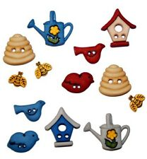 Jesse James Buttons - Dress It Up - Birds And The Bees 5424 Birdhouse Beehive