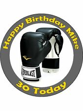 Personalised Boxing glove Edible Cake Topper