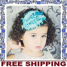 Blue Feather Toddler Headband Babies Hair Accessory Newborn Baby Costume