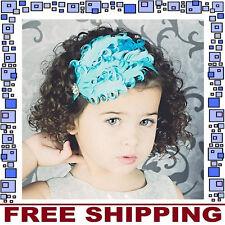 Blue Feather Headband Hairband Accessories Girls Baby Infant Toddler Children