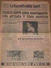 GAZZETTA DELLO SPORT=FAUSTO COPPI=CAMPIONE MONDIALE 1953 CICLISMO=ORIGINALE!!