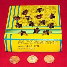 ALCOSWITCH / TE - SPDT MINI SLIDE SWITCH P/N SLSA-120 - FACTORY BOX of 100 PCS