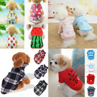 Pet Puppy Cat Dog Vest T Shirt Small Pet Dog Clothes Coat  Apparel Costume US