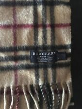 Authentic Burberry Cashmere Nova Check Scarf Excellent Condition!