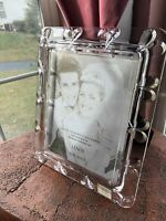New Lenox Wedding Frame 8x10 Crystal Clear Heart Designs 6.5lbs