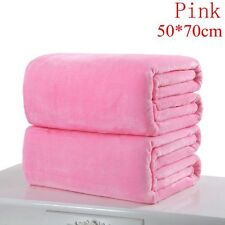 Super Soft Solid Warm Micro Throw Blanket Rug Plush Fleece Bed Quilt Sofa Home Pink