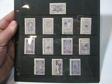 1916-17 Esperanto Anti War Against Stamp Label Different Languages - 12 Stamps