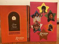 Two Vintage Riviera Hotel Casino Las Vegas Menus And Directory Hotel Facilities