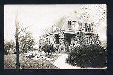 1910 RPPC pretty rock house Canastota NEW YORK photo RP postcard Madison County