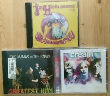 Jimi Hendrix,Cream(New),The Mamas and the Papas(New);3 cd lot- in good condition