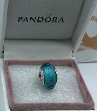 "Pandora "" Fascinating teal ""  S925ale Murano Glass Charm  # 791607. *202*"