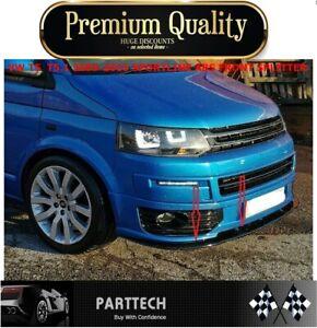 VW T5  T5.1 2009-2015 SPORTLINE ABS FRONT SPLITTER - SPOILER - LOWER SPLITTER...