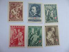 TIMBRES POSTE BELGIQUE 1944 CROIX ROUGE