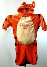 "***Disney Baby*** Infant ""3-6 Mth"" Orange 'Tigger' Hooded Zipper Sleeper Costume"