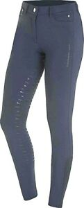 Schockemohle Summer Victory Full Seat Silicone Grip Breeches Midnight Blue SALE