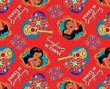 FAT QUARTER  DISNEY ELENA OF AVALOR  FAMILY IS EVERYTHING 100% COTTON FABRIC  FQ