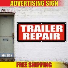 Trailer Advertising Banner Vinyl Sign Flag Truck Car Rental Shop Body Repair