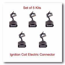 Set 5 Ignition Coil Electric Connector Repair Kit Harness Audi VW Jetta Passat