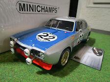 FORD CAPRI RS 2600 #22 gris 24h SPA de 1971 au 1/18 MINICHAMPS 107718022 voiture