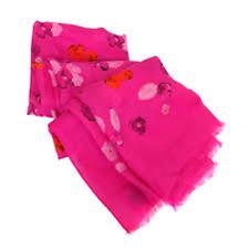 Coach Halftone Floral Scarf 50x70 Pink Ruby 85809 Shawl Wrap Modal