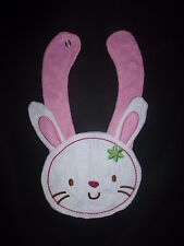 NEW Carter's Easter Bunny White Terry Cloth Teething Unisex Baby Girls Bib
