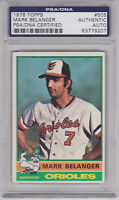 MARK BELANGER 1976 Topps Signed Autographed Baseball Card PSA/DNA #505