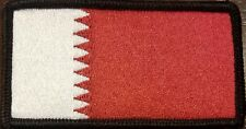 BAHRAIN Flag Military Patch With VELCRO® Brand Fastener Tactical Black Border