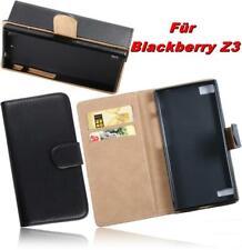 Bookstyle PU Ledertasche Handytasche Schwarz Hülle Case BlackBerry Z3