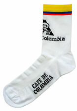CAFE' DE COLOMBIA RETRO CYCLING TEAM SOCKS - Vintage Fixed Gear - Made in Italy