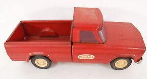 "VTG 1960's Tonka Red Jeep Pickup Truck Pressed Steel Toy Wheels Vehicle 9"" Long"