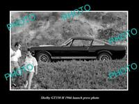 OLD LARGE HISTORIC PHOTO OF 1966 SHELBY MUSTANG GT 350 H LAUNCH PRESS PHOTO