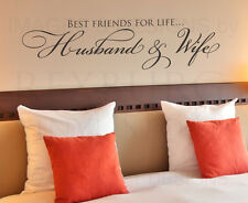 Best Friends for Life Husband Wife Wall Decal Vinyl Sticker Art Decor Quote A10