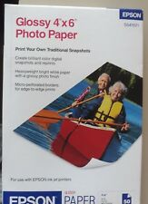 """50 Sheets  Epson Glossy 4"""" x 6"""" Photo Paper for Ink Jet Printers UPC:01034384371"""